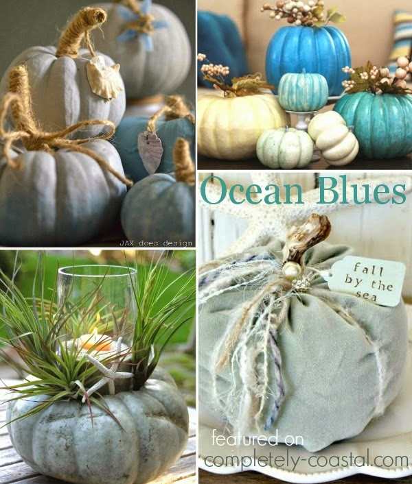 Beach, Nautical & Coastal Pumpkins for Fall & Halloween ...