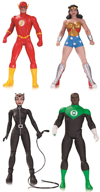 DC Comics Darwyn Cooke Designer Series Wave 2 Action Figures – The Flash, Wonder Woman, Green Lantern John Stewart & Catwoman