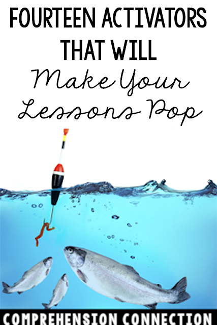 "Need to hook your ""fish"" in? Check out this post for activator ideas that your students will love. Choosing fun ways to build interest is the bait you need, right? Freebies included."