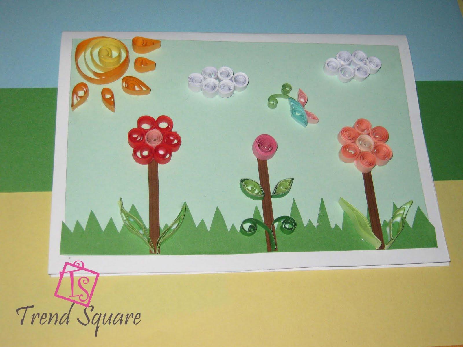 Trend Square: Handmade card
