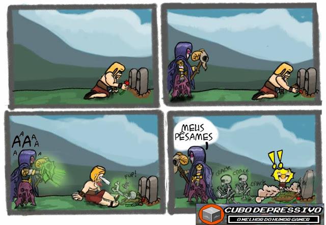 tirinha clash of clans