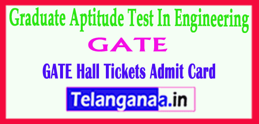 GATE Hall Tickets 2019 Graduate Aptitude Test In Engineering Exam 2019 Time Table