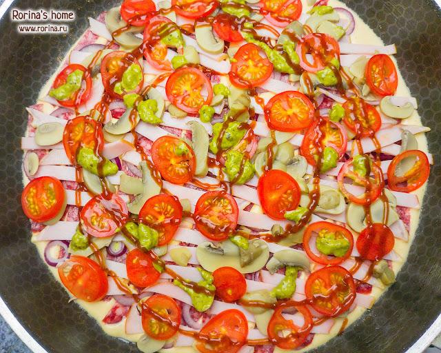 Красивая ленивая пицца