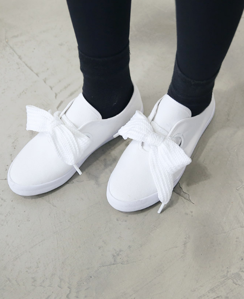Thick-Laced Up Canvas Sneakers