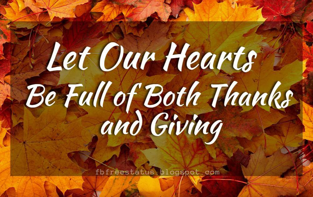 Inspirational Sayings For Thanksgiving Day.
