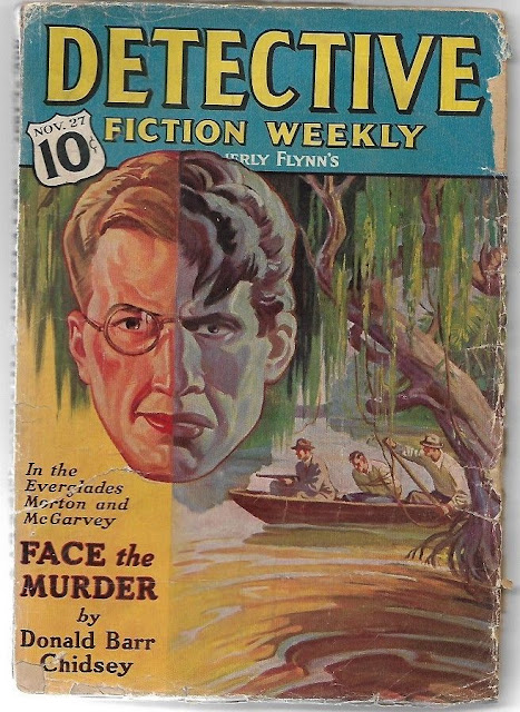 Another Jekyll/Hyde cover from Detective Fiction Weekly, November 27, 1937, Cover artist not known