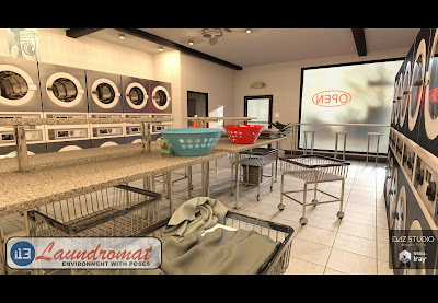 i13 Laundromat Environment with Poses