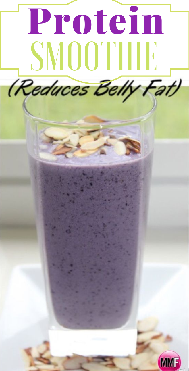 A Protein Smoothie That Helps Reduce Belly Fat #proteinsmoothie #drink