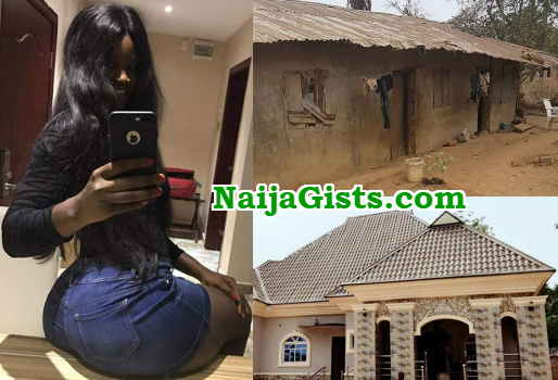 nollywood actress chizzy alichi builds mansion parents enugu