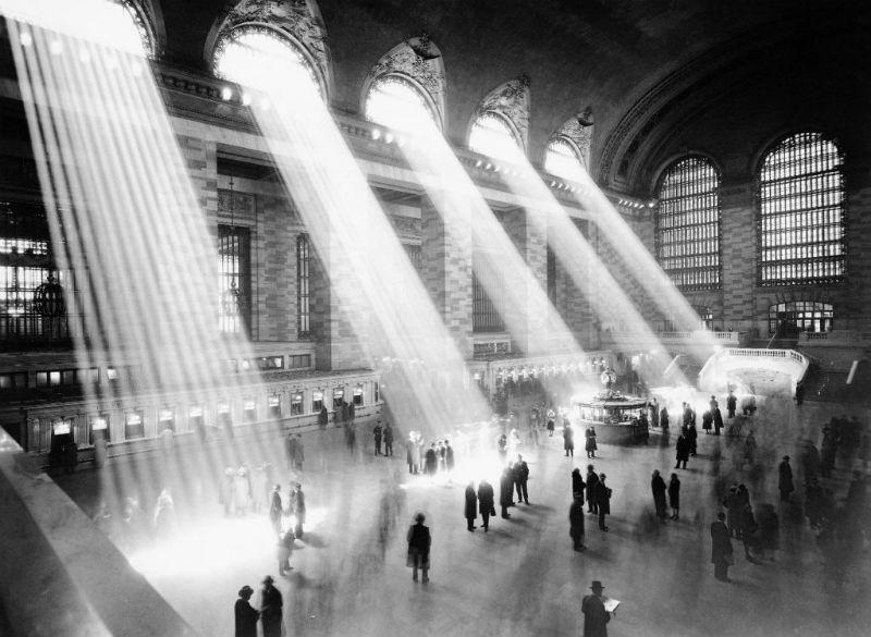 Imagen de luz en el vestíbulo principal de la Estación Central de Nueva York