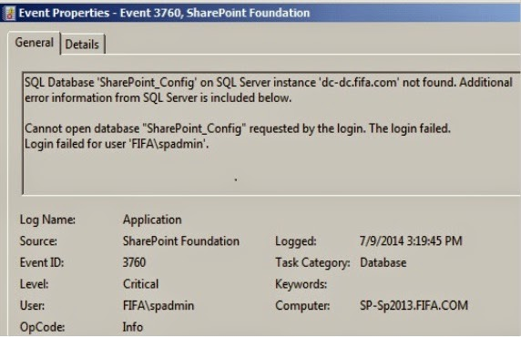 Event ID 3351 | Sharepoint Administrator