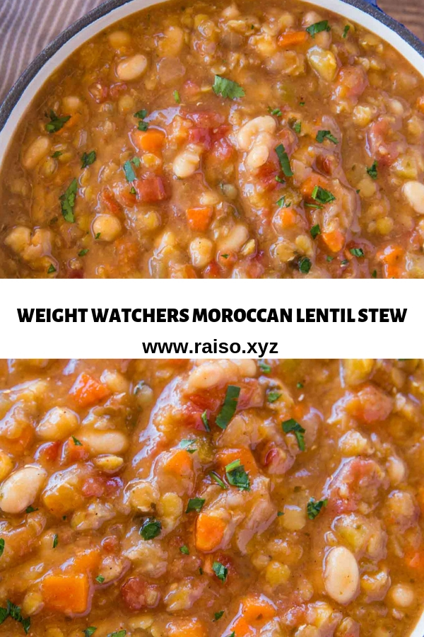 WEIGHT WATCHERS MOROCCAN LENTIL STEW
