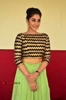 Actress Regina Candra Latest Pos in Green Long Skirt at Nakshatram Movie Teaser Launch  0100.JPG