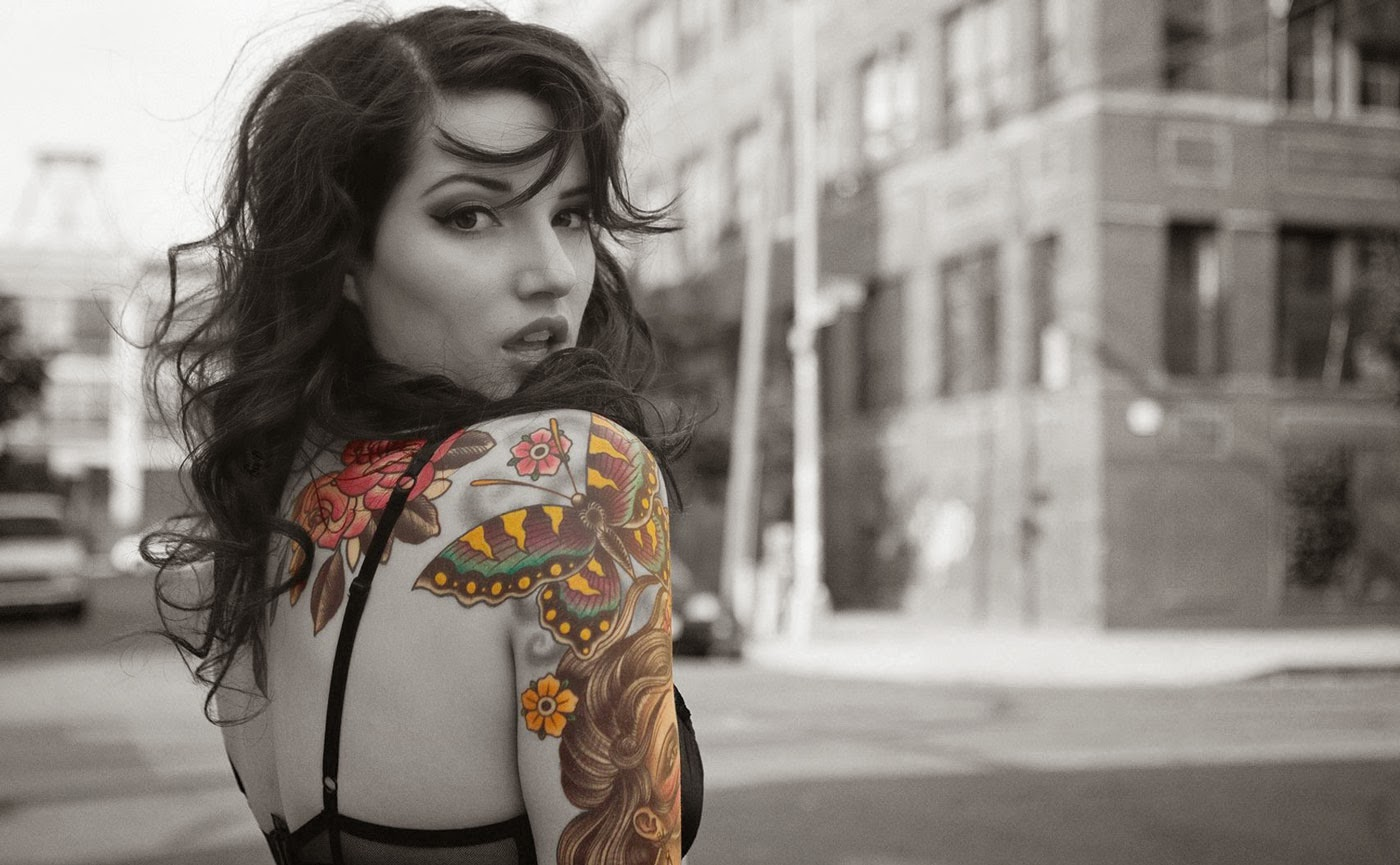 Beautiful Girl Tattoo Wallpaper