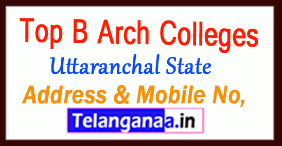 Top B Arch Colleges in Uttaranchal