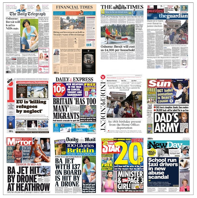 front pages 18-04-16