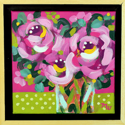 Joy-filled floral painting by artist Merrill Weber