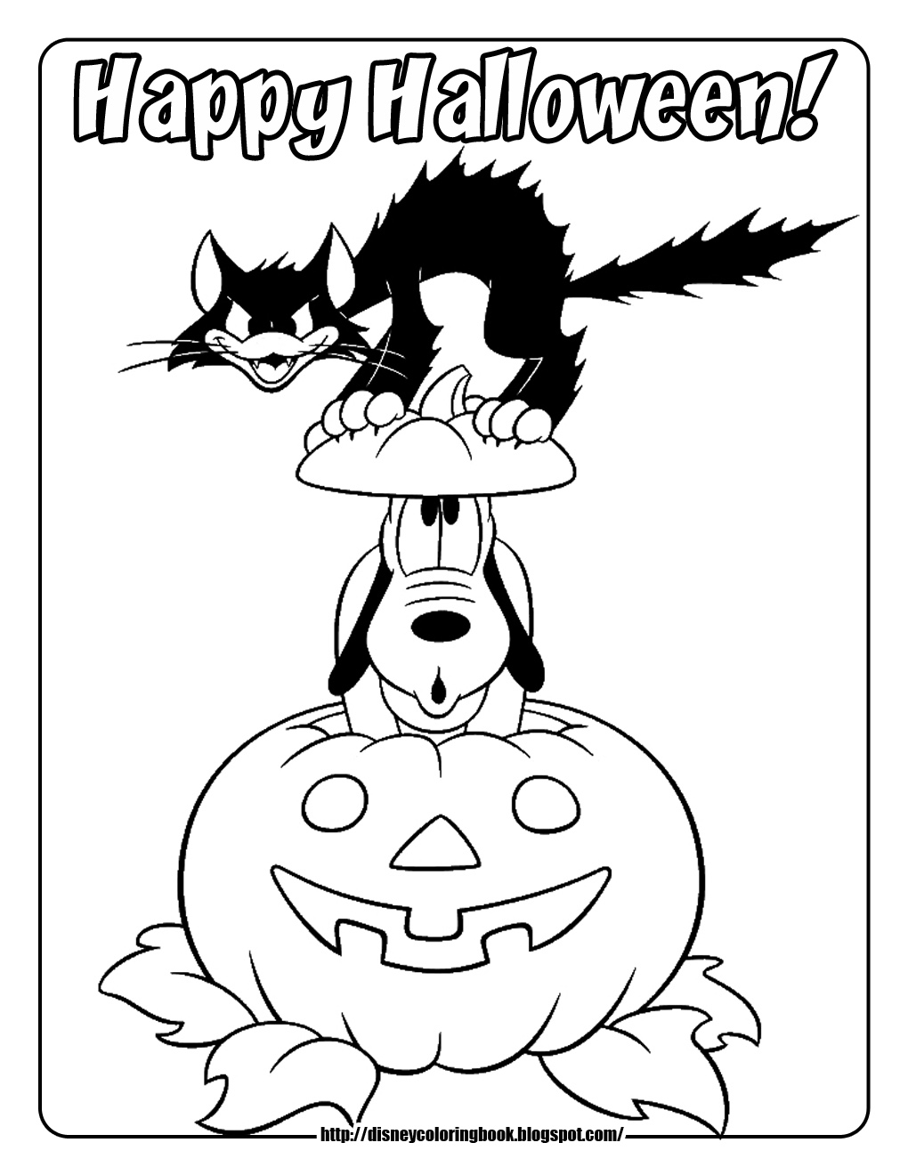 46 Astonishing Disney Halloween Coloring Pages Picture Ideas ... | 1320x1020
