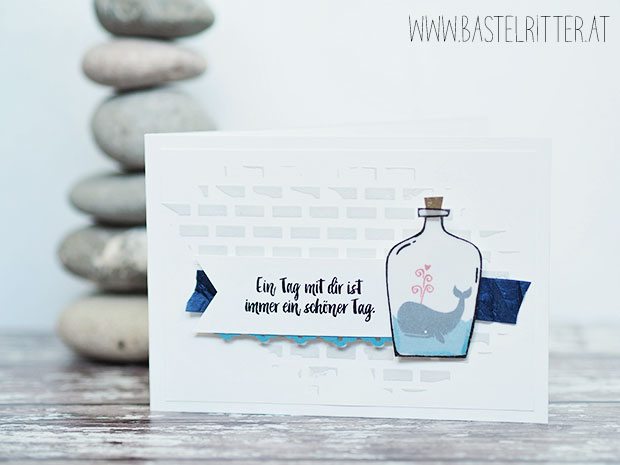 message in a bottle stampin up bastelritter