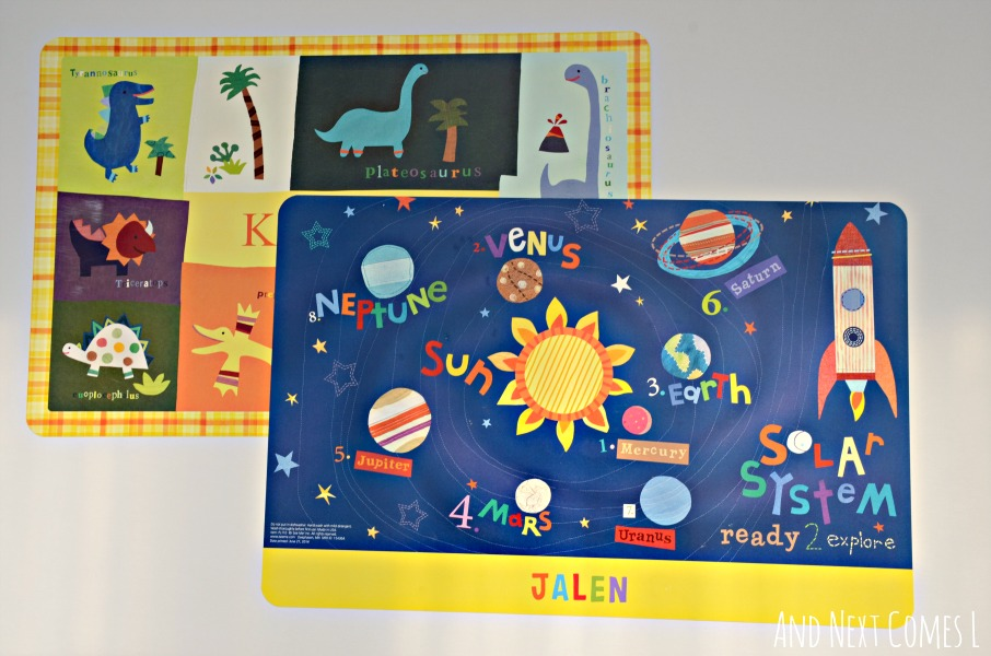 Personalized placemats from I See Me {review & giveaway} from And Next Comes L