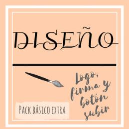Cartel diseño pack básico extra (logo, firma y botón subir)