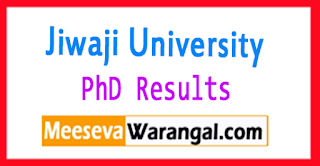 Jiwaji University PhD Result 2017