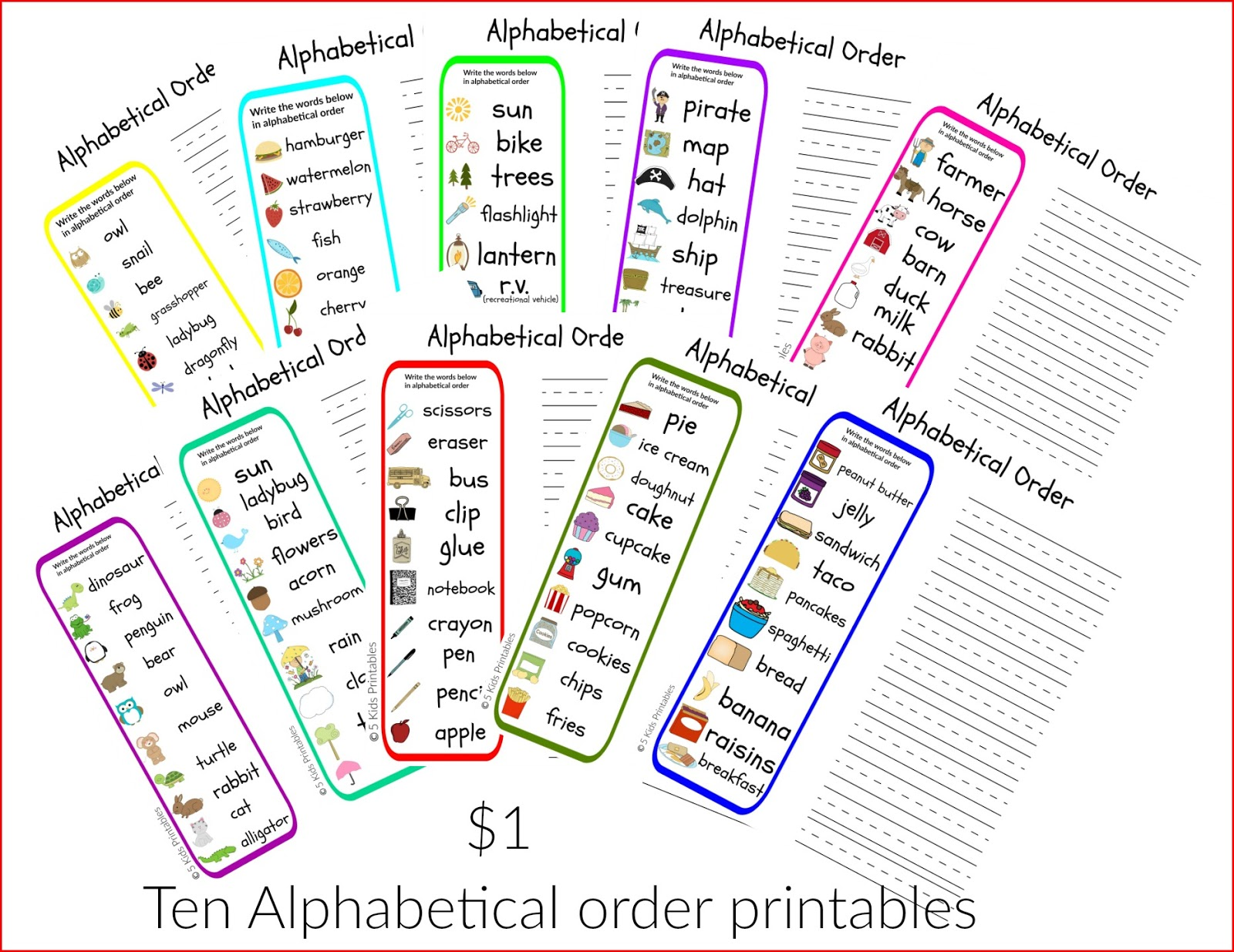 Alphabetical Order Printables