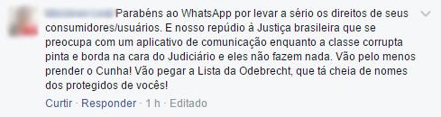 WhatsApp criptografia ponta-a-ponta