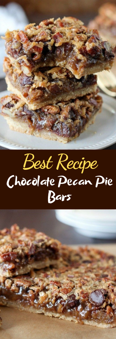 Chocolate Pecan Pie Bars #desserts #cakerecipe