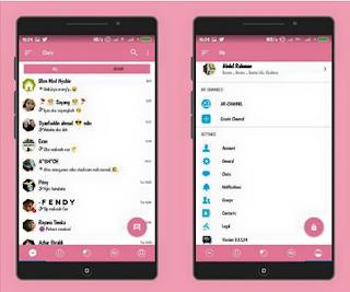 Download BBM MOD AR-BBM v7 Tema Pink Full Fitur base v3.3.1.24 Apk Terbaru
