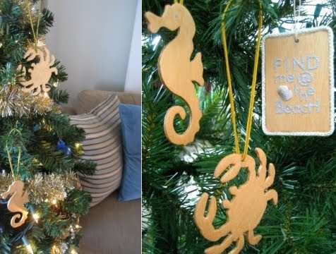 homemade wood xmas ornaments