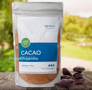 Logo Vinci gratis una borsa di polvere di Cacao biologico con Biovea