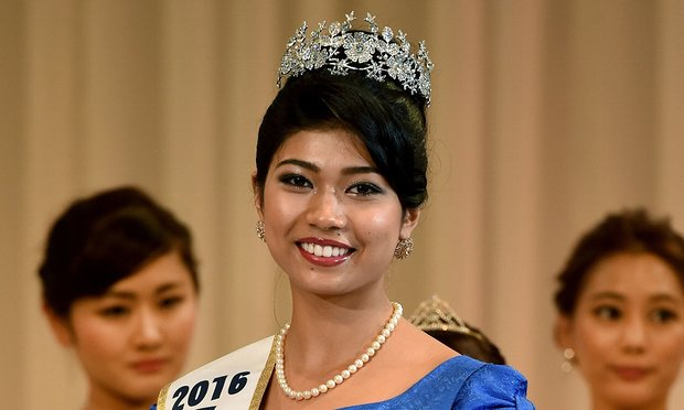 Priyanka Yoshikawa after winning the Miss World Japan title