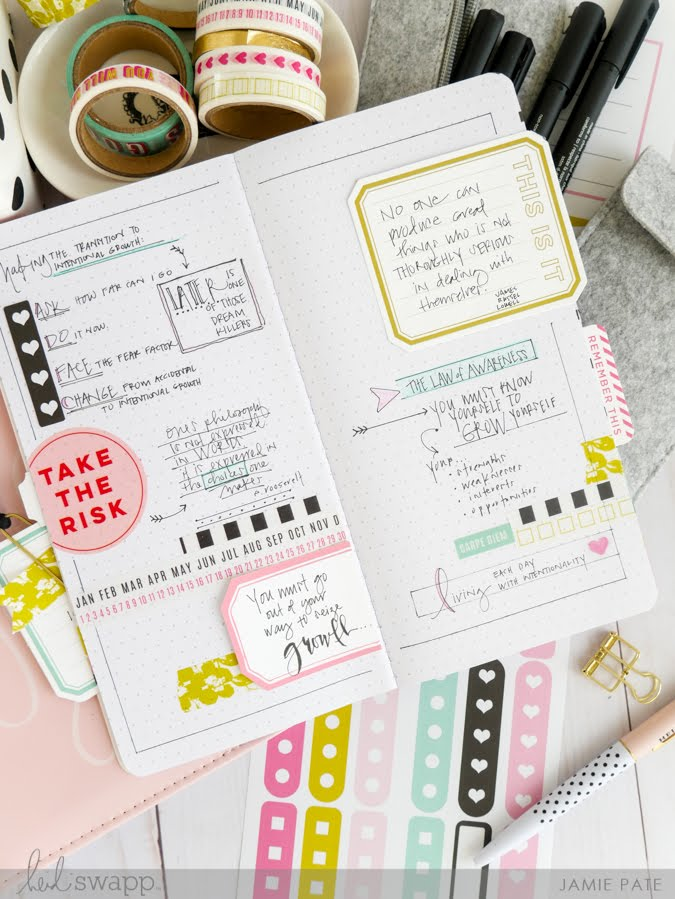 Growth Journal with Heidi Swapp Journal Studio by Jamie Pate | @jamiepate for @heidiswapp