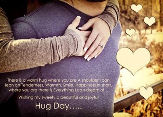 hug day wish image