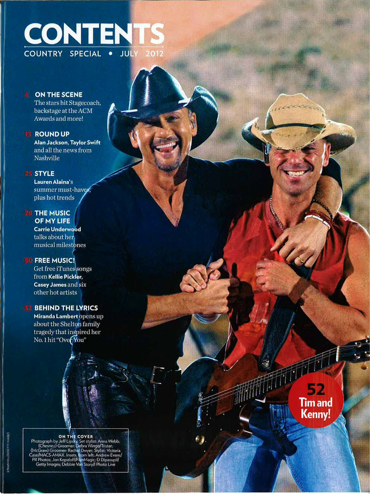 f8adf500f53c5 People Magazine features Blue Chair Bay KC36. Kenny Chesney wearing his  signature hat ...