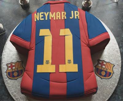 Kue ulang tahun Kaos Neymar Club Barcelona