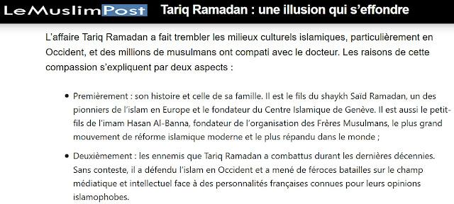 Éloge de Tariq Ramadan et des Frères musulmans