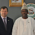 Sen. Amosun receives the British High Commissioner to Nigeria(see photos)