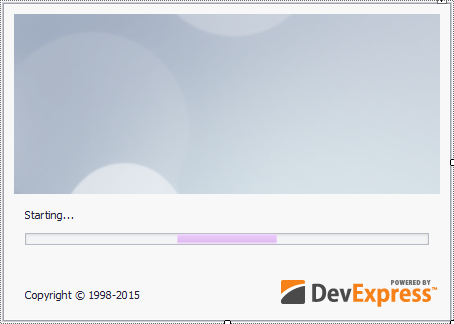 devexpress splash screen