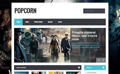 Popcorn - скачать бесплатно шаблон для blogger blogspot