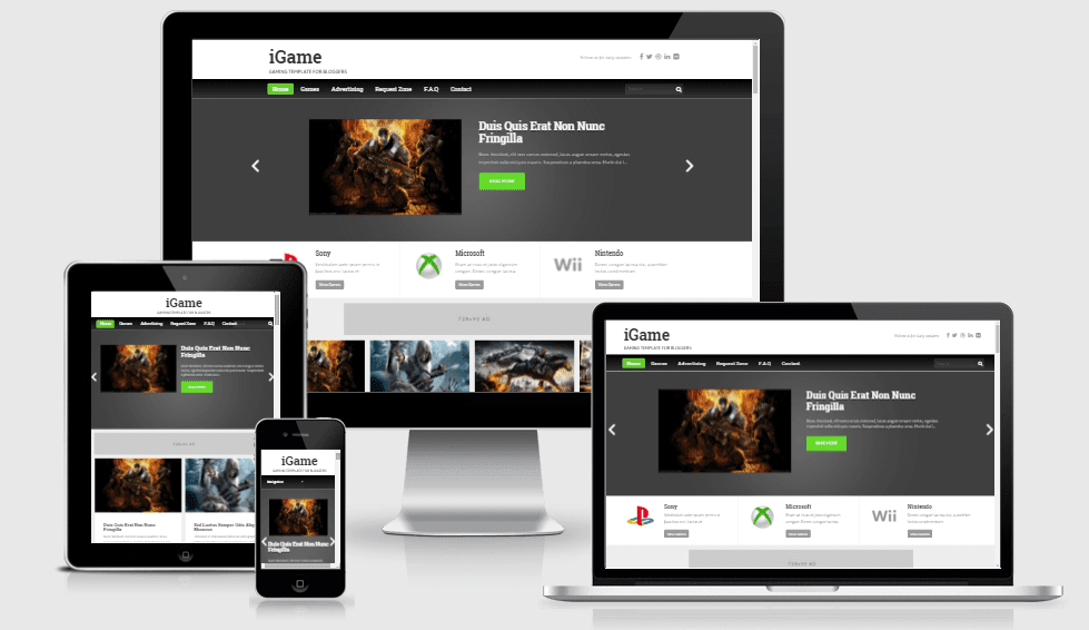 iGame - Responsive Gaming Blogger Template