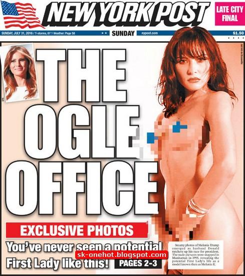 Melania Trump di New York Post, © 2016 storibriti.com/NY Post/istimewa