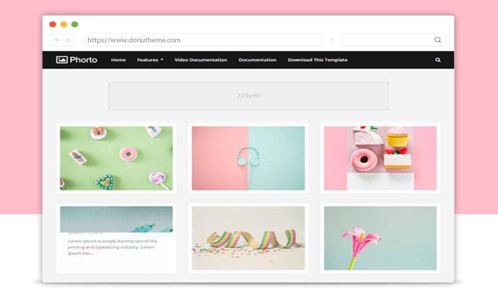 Phorto Premium Blogger Template