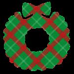 クリスマスのマーク(チェック・リース)