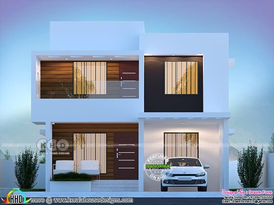 4 bedroom 1790 sq.ft contemporary home design