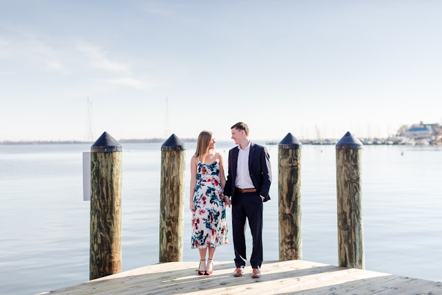 Fall Downtown Annapolis Engagement Session photographed by Heather Ran Photography
