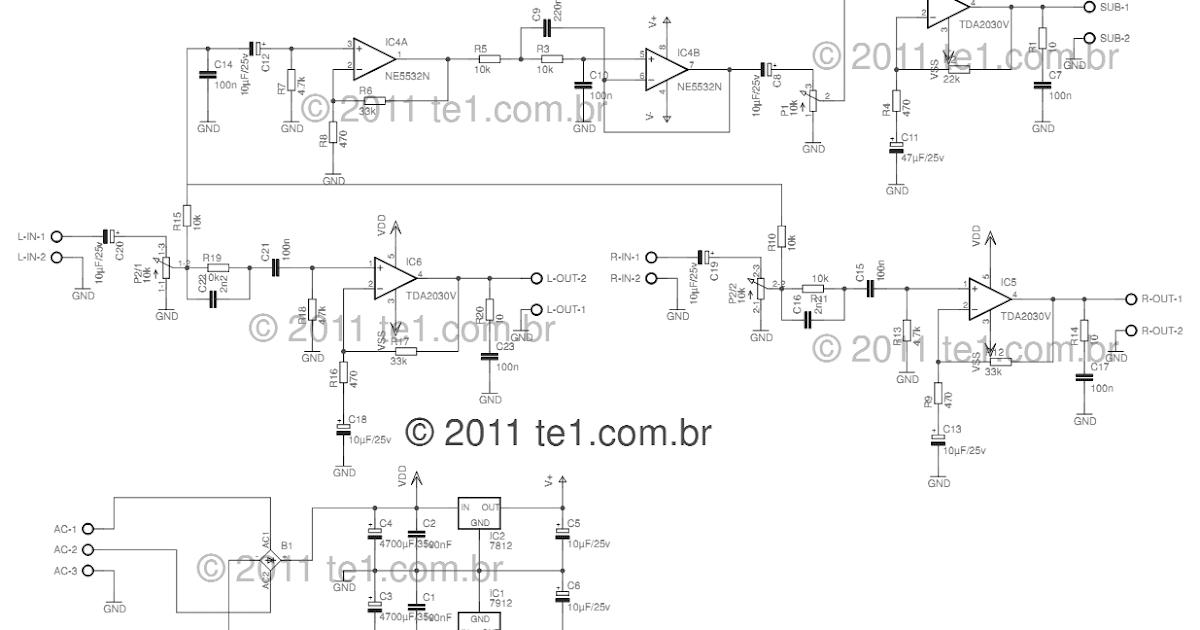Using TDA2030 Power audio Amplifier Wiring diagram ...