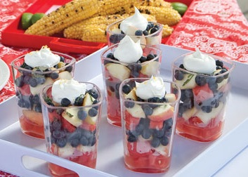 Watermelon Blueberry Layered Salad Recipe