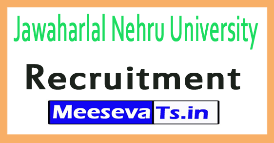 Jawaharlal Nehru University JNU Recruitment